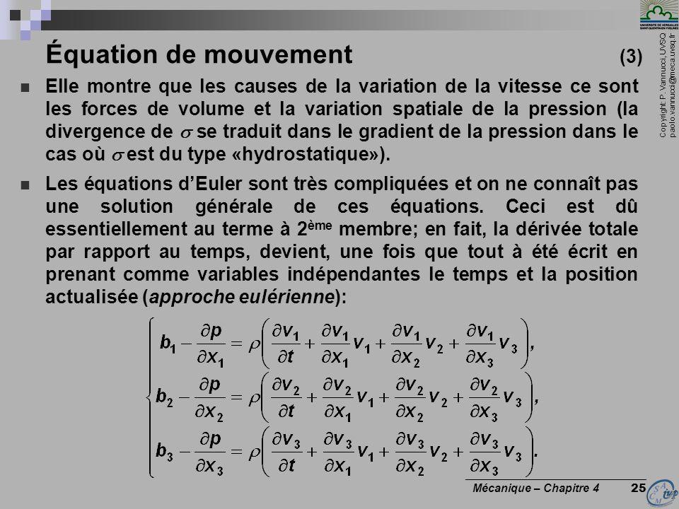 Équation de mouvement (3)