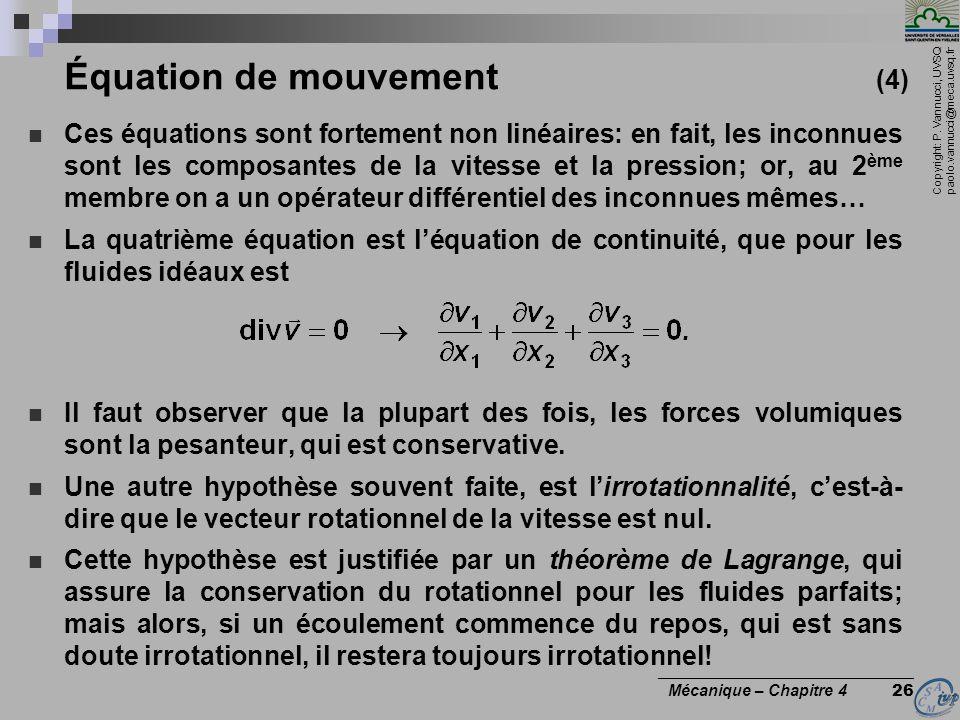 Équation de mouvement (4)