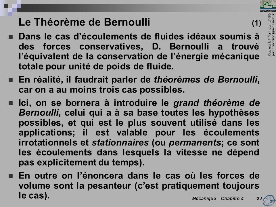 Le Théorème de Bernoulli (1)