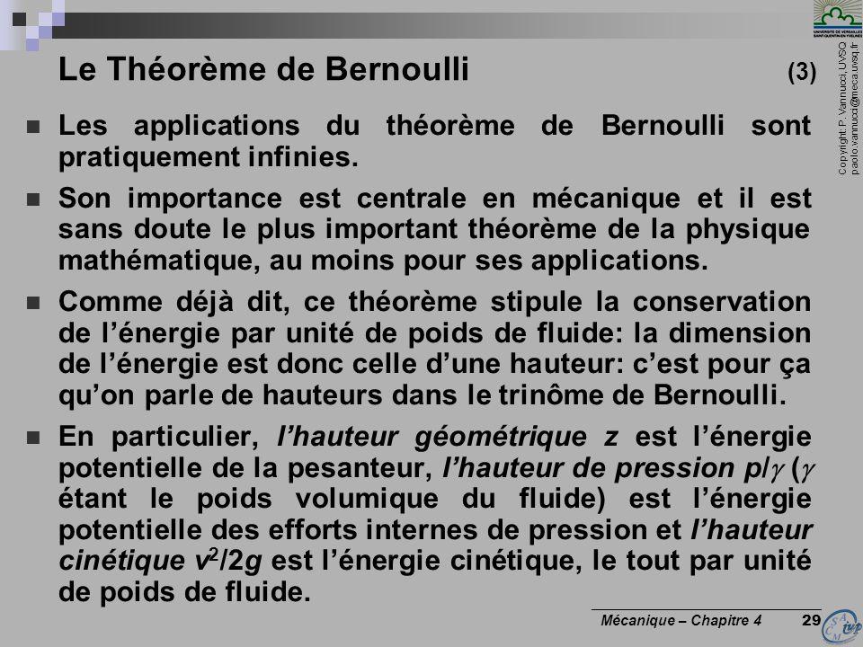 Le Théorème de Bernoulli (3)