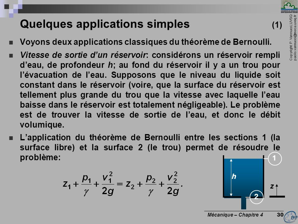 Quelques applications simples (1)