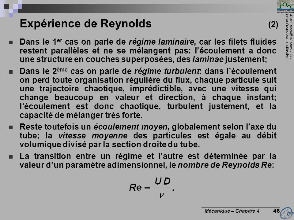 Expérience de Reynolds (2)
