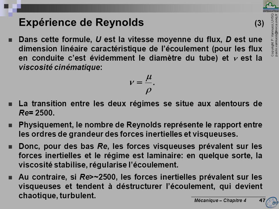 Expérience de Reynolds (3)