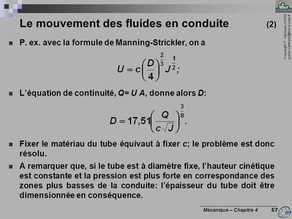 Le mouvement des fluides en conduite (2)