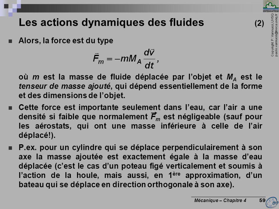 Les actions dynamiques des fluides (2)