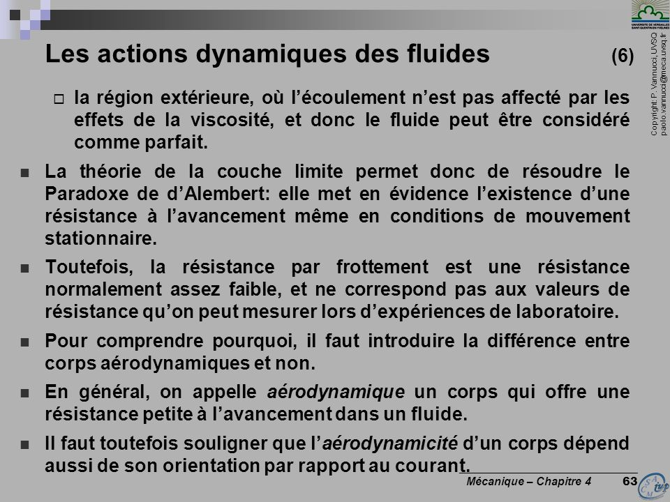 Les actions dynamiques des fluides (6)