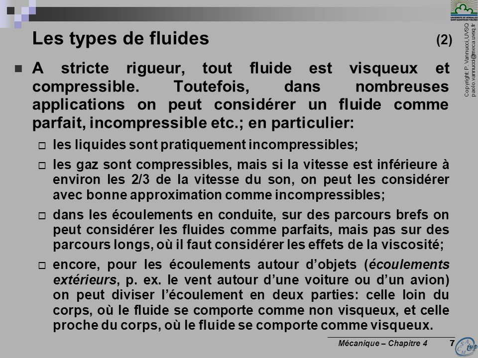 Les types de fluides (2)