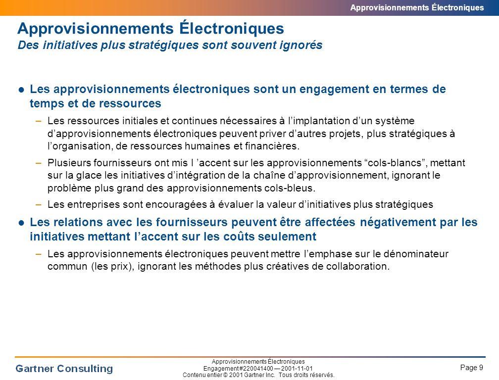 Approvisionnements Électroniques Alternatives aux approvisionnements électroniques