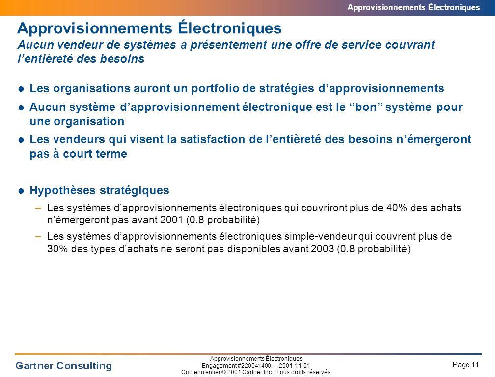 Approvisionnements Électroniques Le futur des approvisionnements électroniques