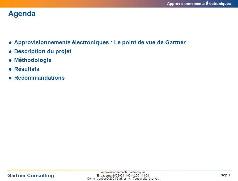 Approvisionnements Électroniques Point de vue de Gartner