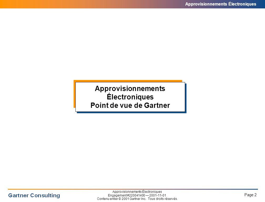 Approvisionnements Électroniques Le commerce électronique dans l'ère des Supranets