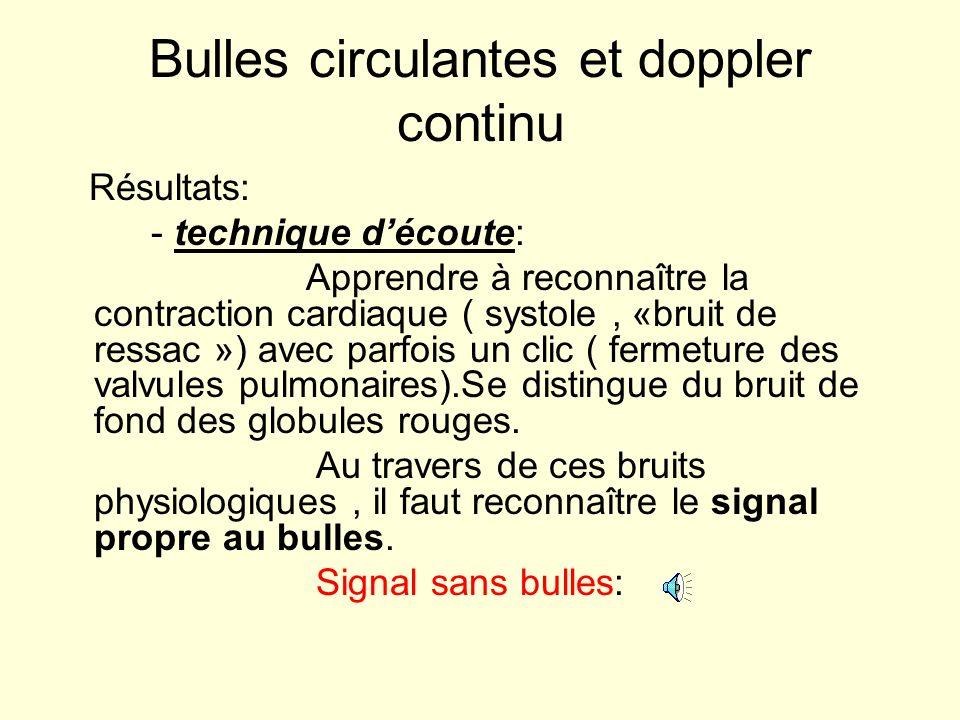 Bulles circulantes et doppler continu