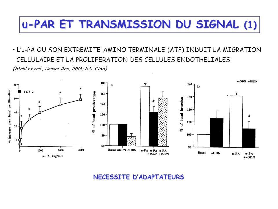 u-PAR ET TRANSMISSION DU SIGNAL (1)