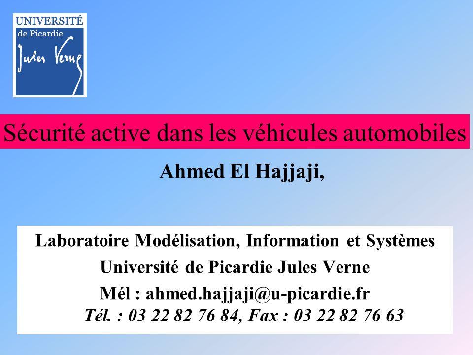Sécurité active dans les véhicules automobiles