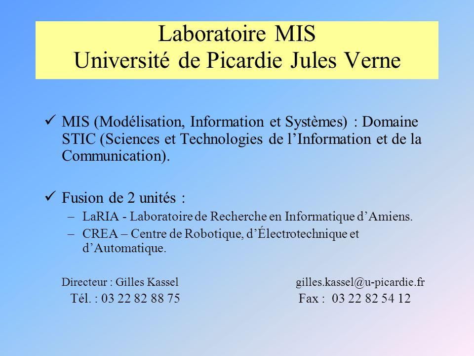 Laboratoire MIS Université de Picardie Jules Verne