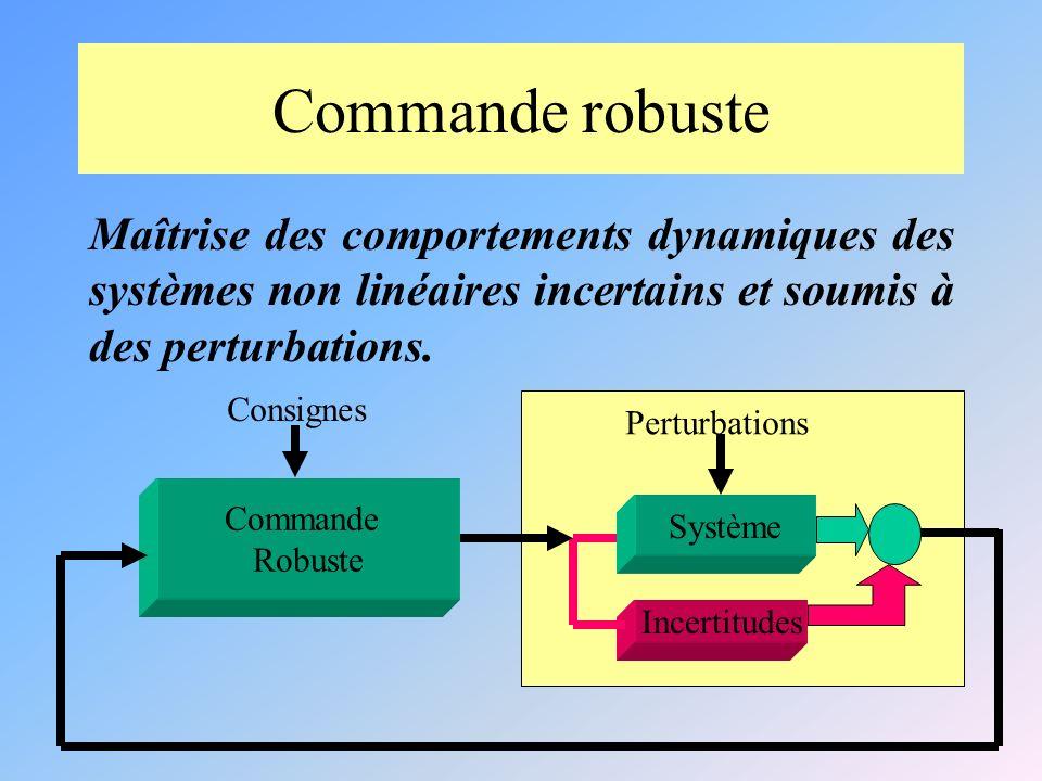 Commande robuste Maîtrise des comportements dynamiques des systèmes non linéaires incertains et soumis à des perturbations.