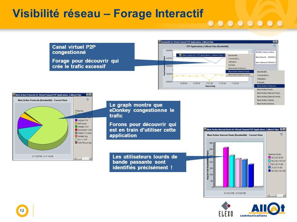 Visibilité réseau – Forage Interactif