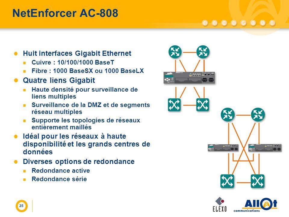 NetEnforcer AC-808 Quatre liens Gigabit