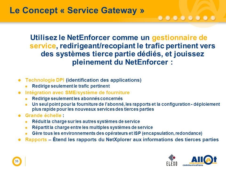 Le Concept « Service Gateway »