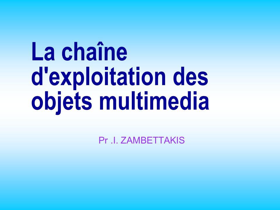 La chaîne d exploitation des objets multimedia