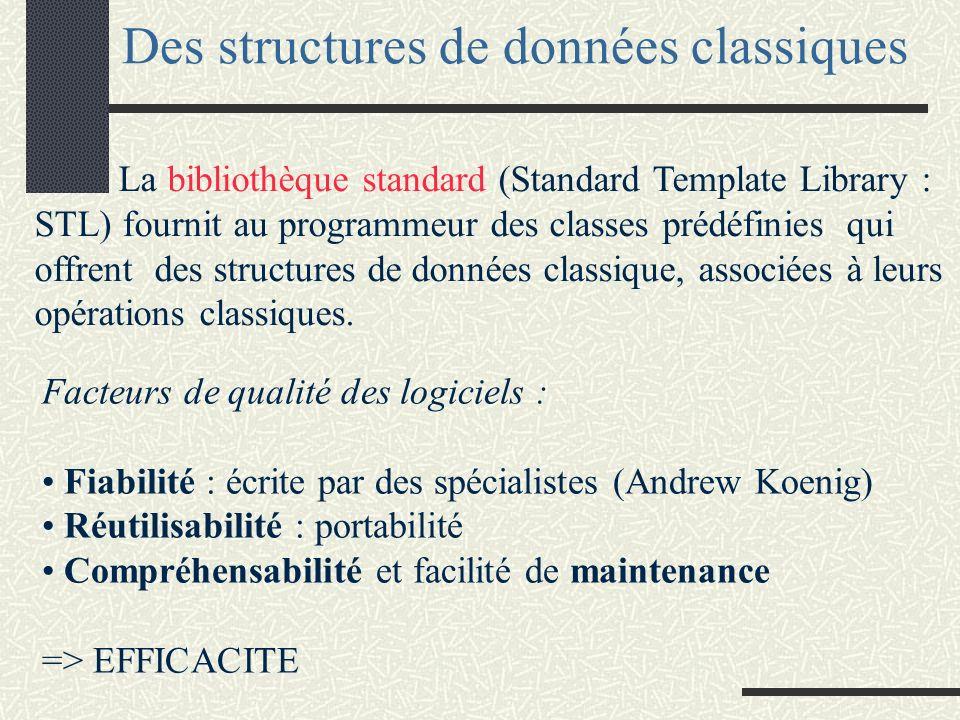 Des structures de données classiques