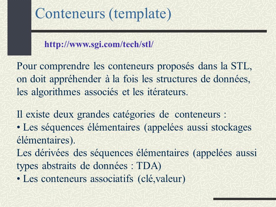 Conteneurs (template)