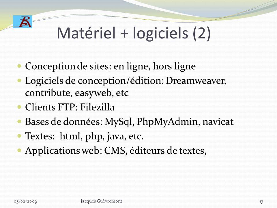 Matériel + logiciels (2)