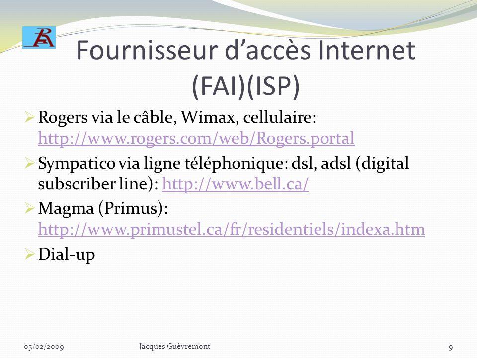 Fournisseur d'accès Internet (FAI)(ISP)