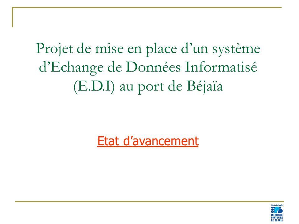 Projet de mise en place d'un système d'Echange de Données Informatisé (E.D.I) au port de Béjaïa