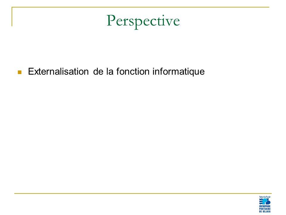 Perspective Externalisation de la fonction informatique