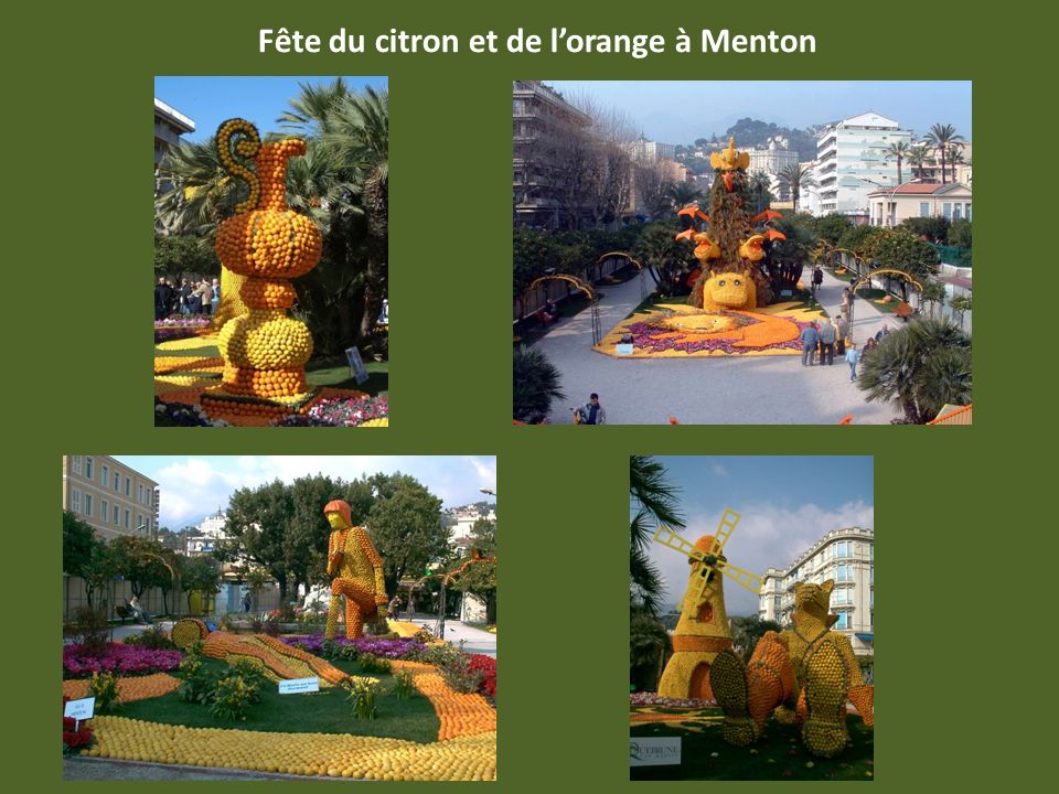 Fête du citron et de l'orange à Menton