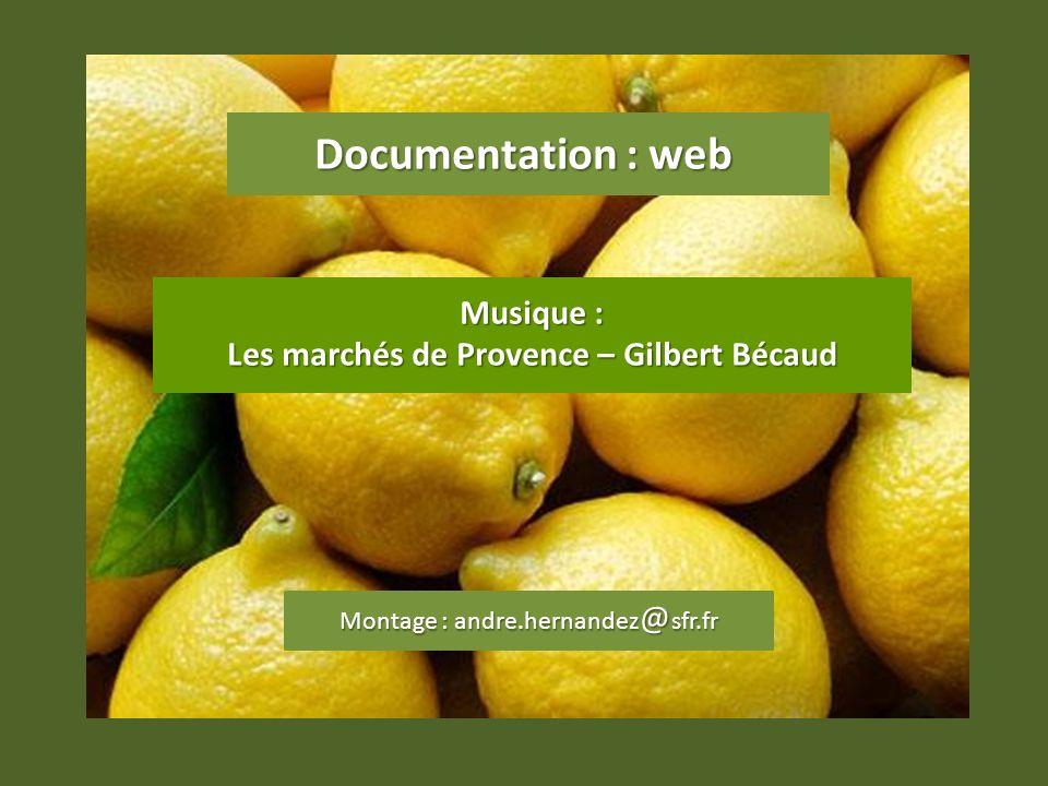 Les marchés de Provence – Gilbert Bécaud