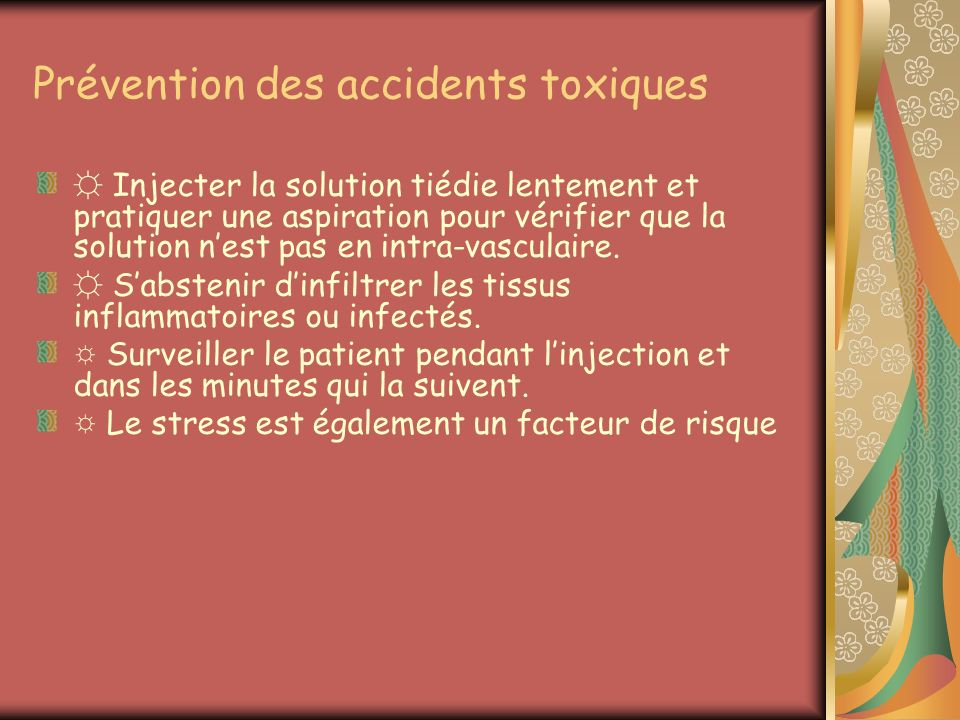 Prévention des accidents toxiques