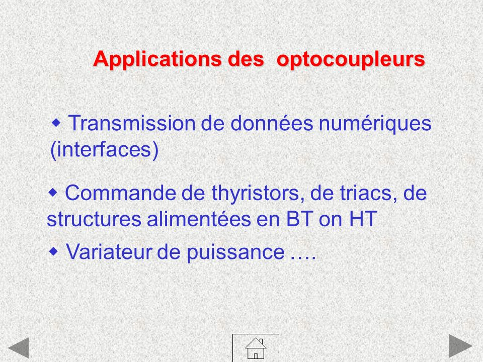 Applications des optocoupleurs