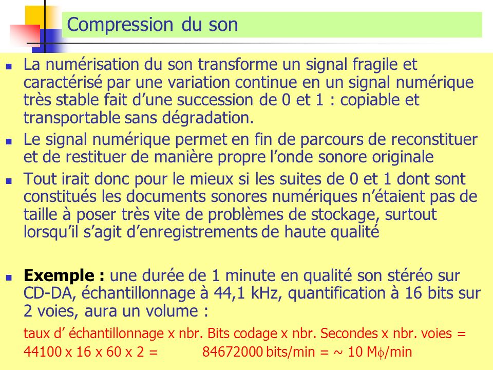 Compression du son
