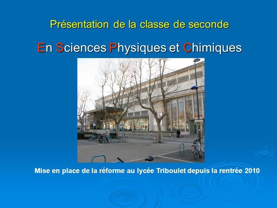 Mise en place de la réforme au lycée Triboulet depuis la rentrée 2010