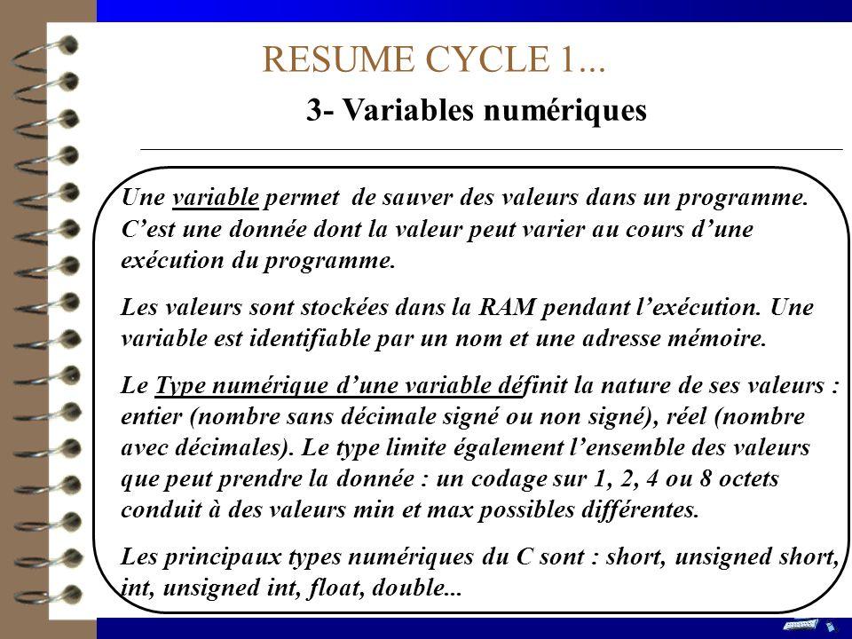 3- Variables numériques