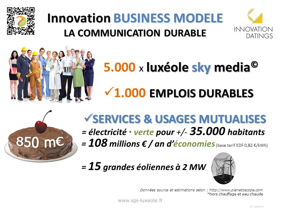 Innovation BUSINESS MODELE LA COMMUNICATION DURABLE