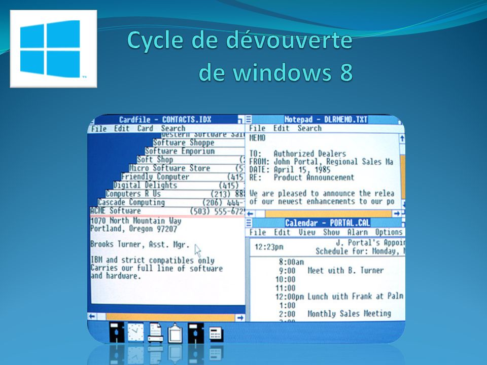 Cycle de dévouverte de windows 8