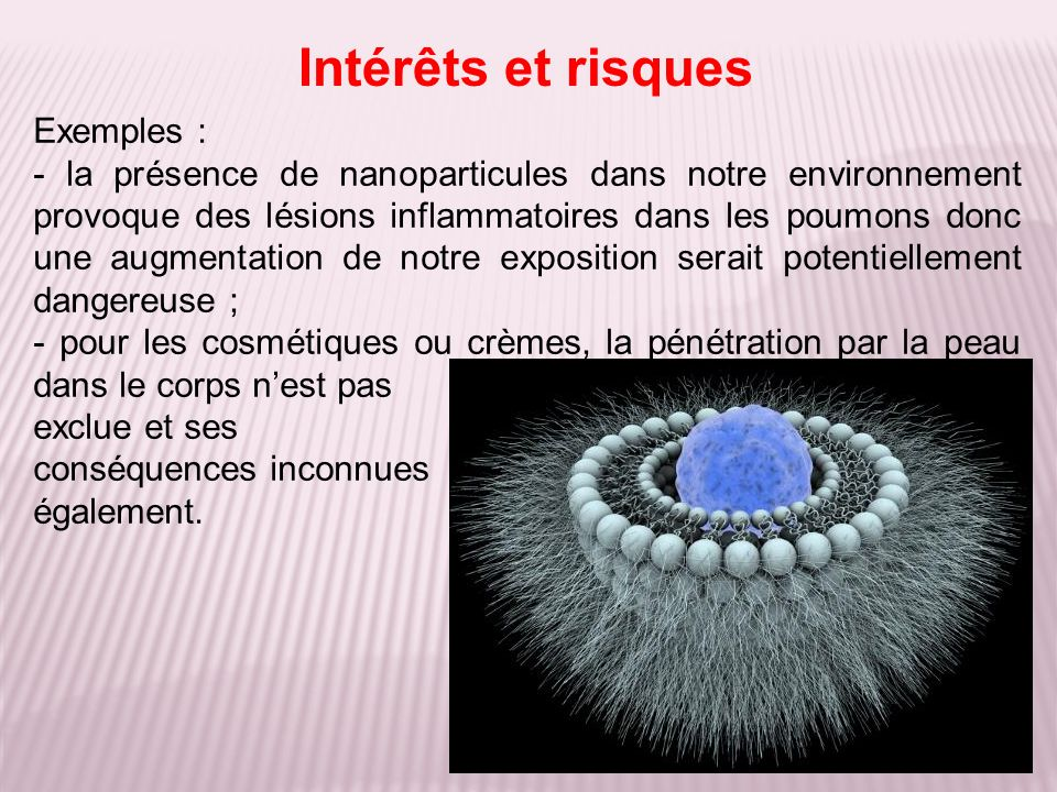 Intérêts et risques Exemples :