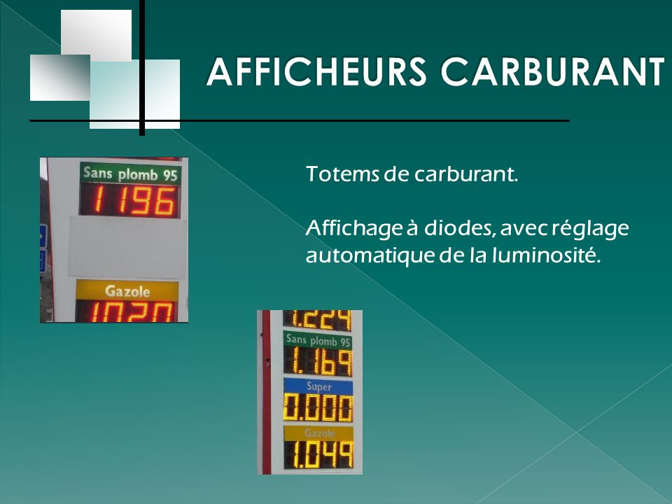 AFFICHEURS CARBURANT Totems de carburant.