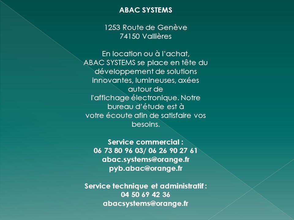 Service technique et administratif :