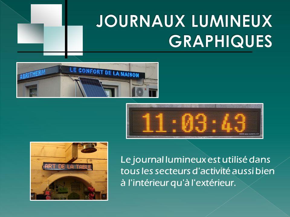 JOURNAUX LUMINEUX GRAPHIQUES