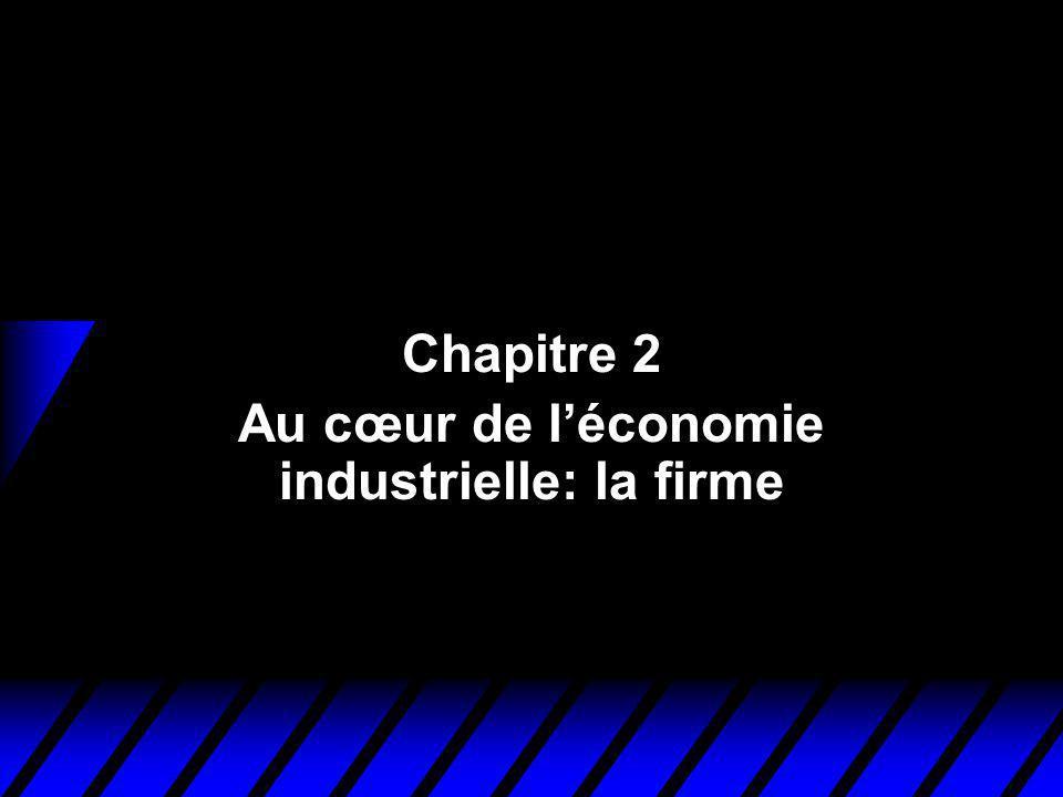 Chapitre 2 Au cœur de l'économie industrielle: la firme