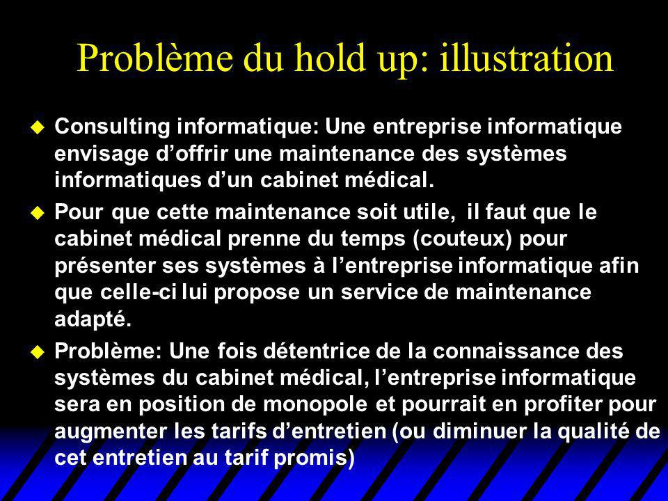 Problème du hold up: illustration