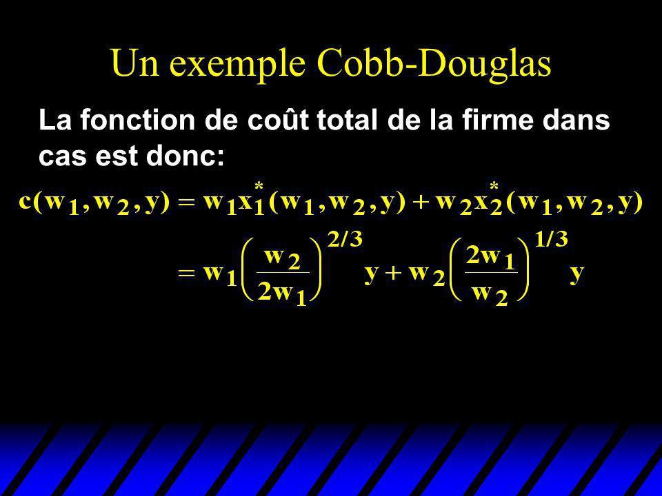 Un exemple Cobb-Douglas