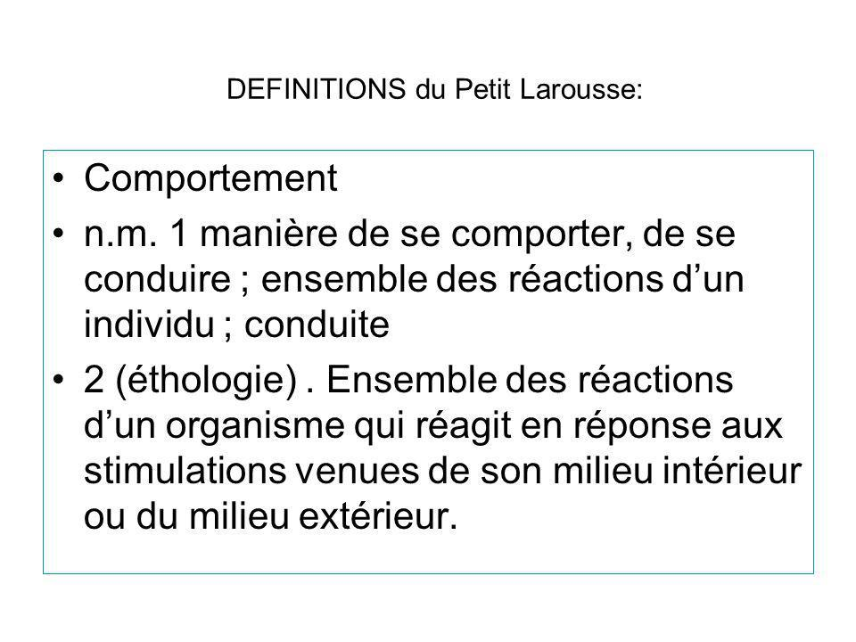 DEFINITIONS du Petit Larousse: