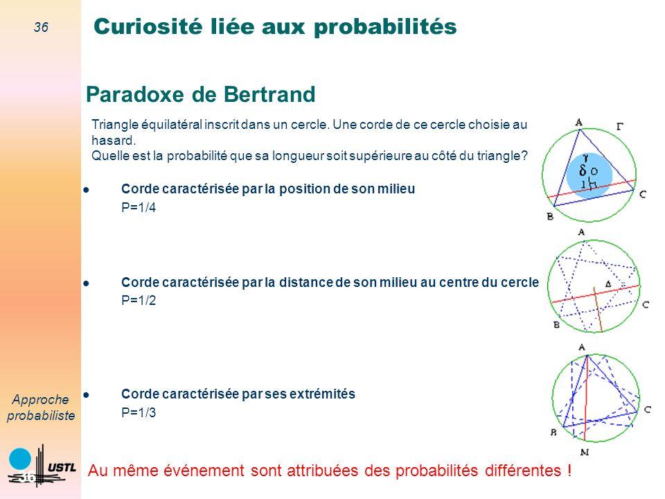 Curiosité liée aux probabilités