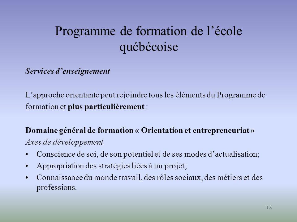 Programme de formation de l'école québécoise