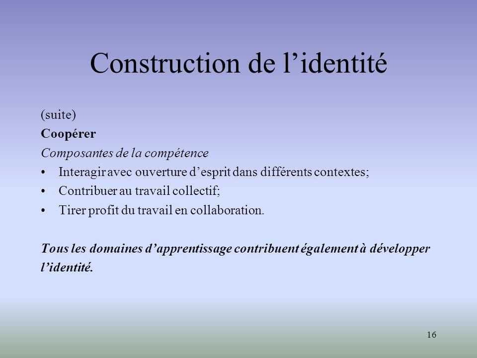 Construction de l'identité